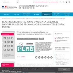 Présentation du concours national d'aide à la création d'entreprises de technologies innovantes
