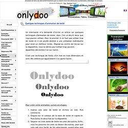 Animation de texte avec Microsoft® PowerPoint pour la création d'une intro animé pour sa présentation, télécharger les exemples