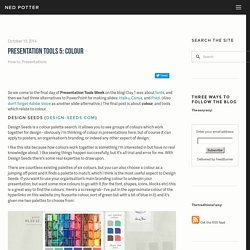 Presentation Tools 5: Colour