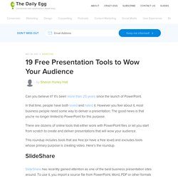 19 Free Presentation Tools to Wow Your Audience