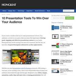 10 Presentation Tools To Win Over Your Audience