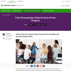 5 Fun Presentation Tools for End-of-Year Projects