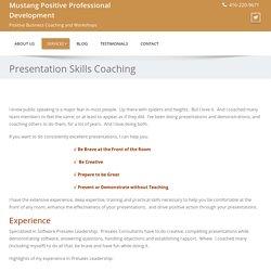 Presentation skills and training workshops