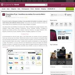 Présentation Pi.pe : transférez vos médias d'un service Web à un autre