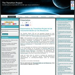 Présentation du Transition Project | The Transition Project