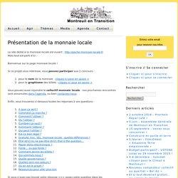 Présentation de la monnaie locale » Montreuil en Transition