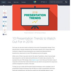 10 Presentation Trends to Watch Out For in 2016