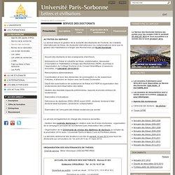 Service des doctorats Paris IV