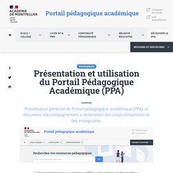 Portail Pédagogique Académique (PPA) : présentation et utilisation