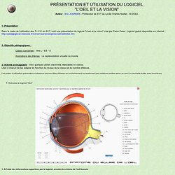 """Présentation et utilisation du logiciel """"L'oeil et la Vision"""""""