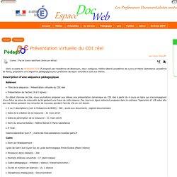 Présentation virtuelle du CDI réel - [Espace Doc Web]