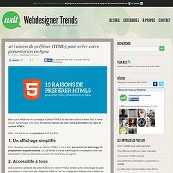 10 raisons de préférer HTML5 pour créer votre présentation en ligne