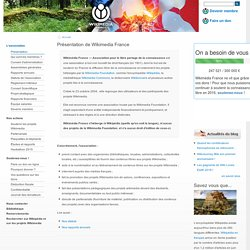 Présentation de Wikimedia France