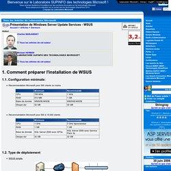Présentation de Windows Server Update Services - WSUS