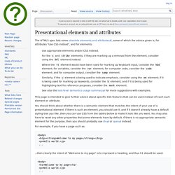 Presentational elements and attributes - WHATWG Wiki