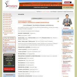 Cours d'espagnol : se présenter en espagnol (presentationas) » Actualités » Enseigna