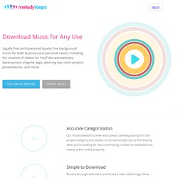 Melody Loops - Royalty-free Background Music
