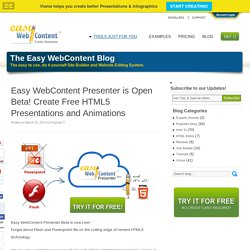 Create Free HTML5 Presentations and Animations with Presenter