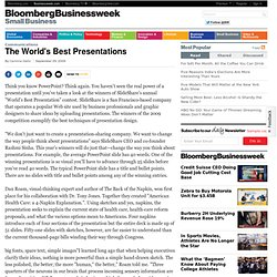 The World's Best Presentations
