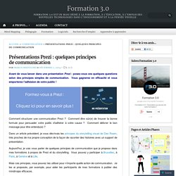 Présentations Prezi : quelques principes de communication