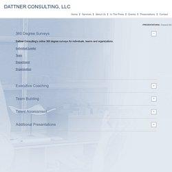 Presentations – Dattner Consulting
