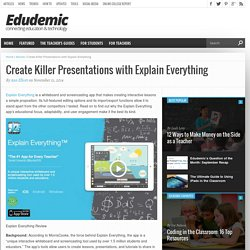 Create Killer Presentations with Explain Everything
