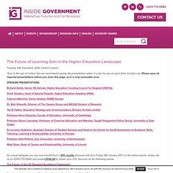 Learning Gain 2016 Speaker Presentations – Inside Government