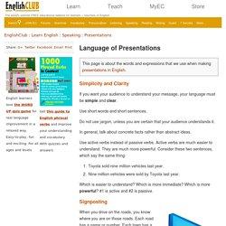 Presentations - Language