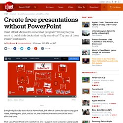 Create free presentations without PowerPoint - CNET