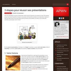3 étapes pour réussir ses présentations - PowerPoint, Keynote, ...