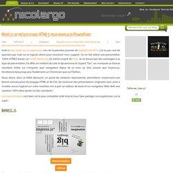 Modèles de présentations HTML5 pour remplacer PowerPoint