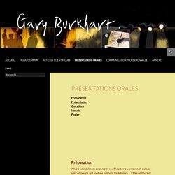 Gary Burkhart – Communication Scientifique et Professionnelle en Anglais et en Français
