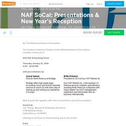 NAF SoCal: Presentations & New Year's Reception Tickets, Thu, Jan 21, 2016 at 6:00 PM