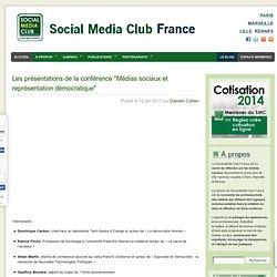 Les présentations de la conférence «Médias sociaux et représentation démocratique»