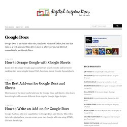 Google Docs - Digital Inspiration