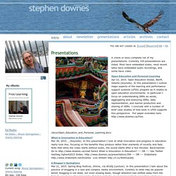 Stephen's Web | Connectivism | Scoop.it