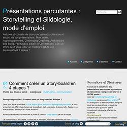 Powerpoint percutant : Comment créer un Story-board en 4 étapes ?