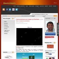 Creare presentazioni per immagini con PhotoPeach