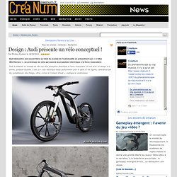 Design : Audi présente un vélo conceptuel !