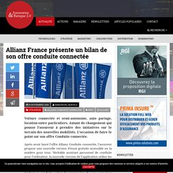 Allianz France présente un bilan de son offre conduite connectée