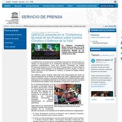 """UNESCO presente en la """"Conferencia Mundial de los Pueblos sobre Cambio Climático y Defensa de la Vida"""""""
