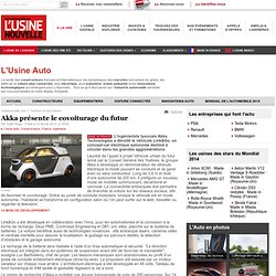 Akka présente le covoiturage du futur - L'Usine Auto