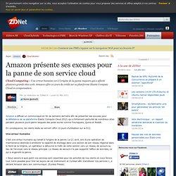 Amazon présente ses excuses pour la panne de son service cloud