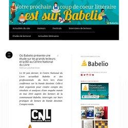 Où Babelio présente une étude sur les grands lecteurs et la BD au Centre National du Livre