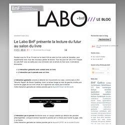 Le Labo BnF présente la lecture du futur au salon du livre