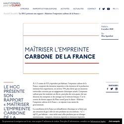 """Le HCC présente son rapport """"Maîtriser l'empreinte carbone de la France"""" — Haut Conseil pour le Climat"""