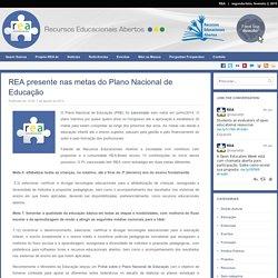 REA presente nas metas do Plano Nacional de Educação