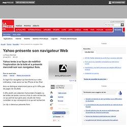Yahoo présente son navigateur Web
