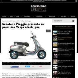 Scooter : Piaggio présente sa première Vespa électrique