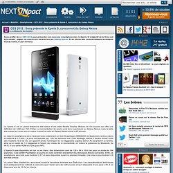 CES 2012 : Sony présente le Xperia S, concurrent du Galaxy Nexus